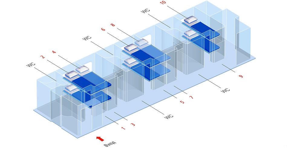 Схема мест вагона люкс скоростного поезда Стриж