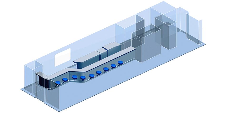 Схема вагона-буфета скоростного поезда Стриж